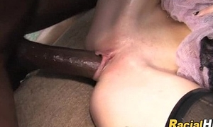 Musty Tit Tattooed Fair-haired Teen Knows Regardless how To Forth Black Slicer