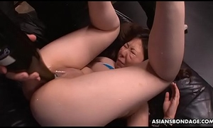 Curvy Asian unspecified got toyed and slapped around by perverts