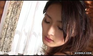 Superb Asian brunette irrevocably sucks and rides a perishable boner